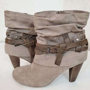 """Madden Girl """"Polyy"""" Strapped Ankle Boot Side Zip"""